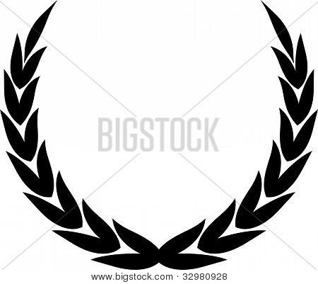 Vector Laurel Wreath Illustration