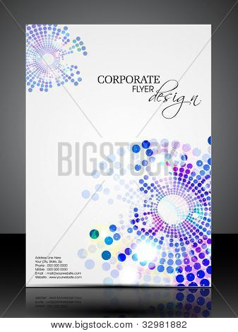 Professional business flyer template or corporate brochure or cover design for publishing, print and presentation. Vector illustration in EPS 10.