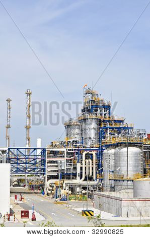 Chemical plant in summer day