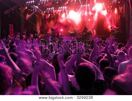 Crowd On Rock Concert