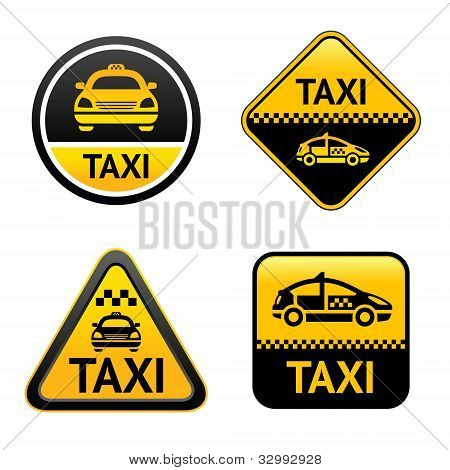 Taxi cab set buttons