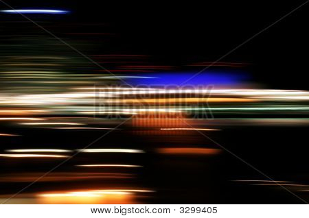 Abstract City Night Lights