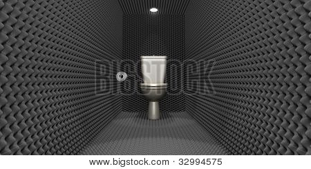 Soundproof Toilet Cubicle