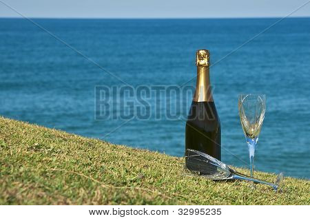 Champagne Picnic On The Headland.