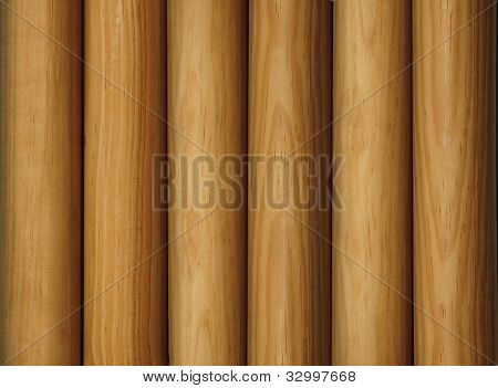Wooden Poles As A Background
