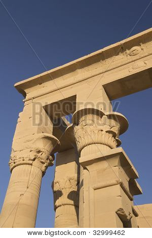 Detailed View At The Temple Of Isis At Philae  ( Egypt)
