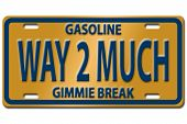picture of high-octane  - Concept image with gas nozzle on license plate - JPG