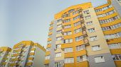 Modern Multistory Apartment Building. Contemporary Architecture. Building Fragment. Apartment Block. poster