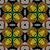 Colorful Greek Vector Seamless Pattern. Abstract Ethnic Style Floral Background. Repeat Decorative T poster
