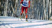 Winter Ski Marathon Athlete Skier Classic Style poster