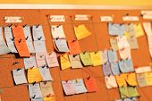 Sticky Note To Scrum Tasks Board. Task Board Use In Agile Methodology And Project Management During  poster