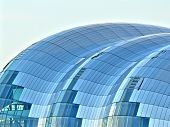 stock photo of tyne  - The beautiful rooftop glass structure of the Sage concert hall in Newcastle Upon Tyne quayside - JPG
