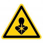 Warning Longer Term Health Hazard,ghs Hazard Pictogram, Vector Illustration, Isolate On White Backgr poster