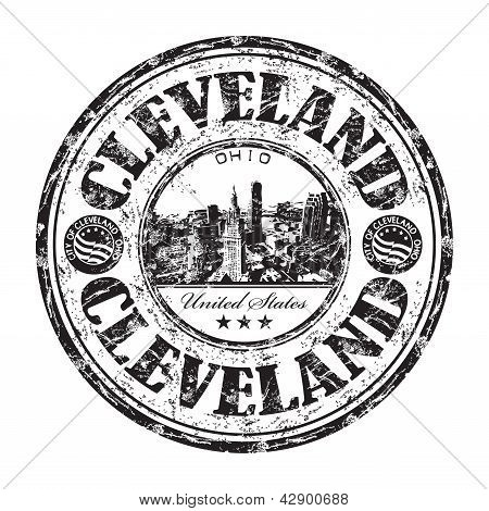 Sello de goma de grunge de Cleveland