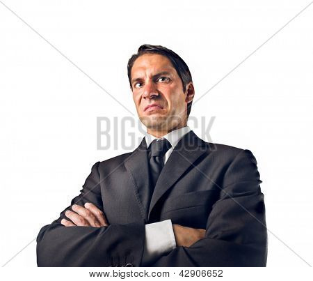 businessman disgusted