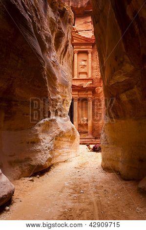 Al Khazneh o el tesoro en Petra, Jordania