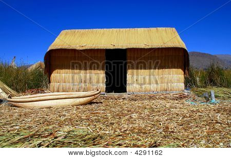 Reed Hut Uros Floating Islands