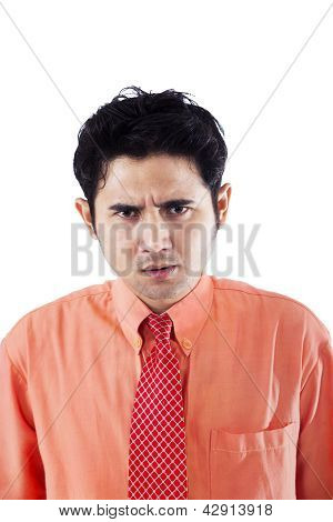 Angry Businessman Isolated