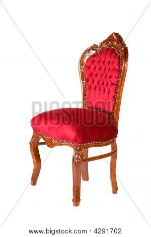 Old-style Chair Red Velvet