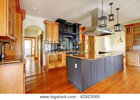 New Construction Luxury Home Interior.kitchen With Beautiful Details.