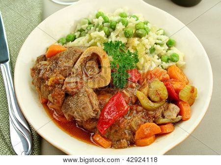 Osso Bucco And Rice