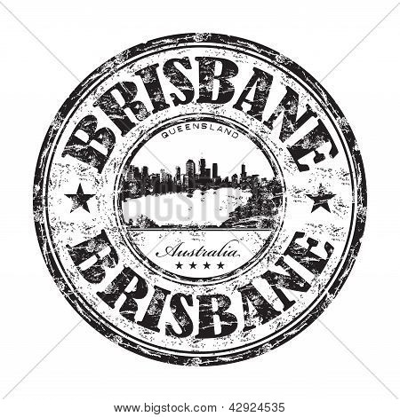 Brisbane grunge rubber stamp