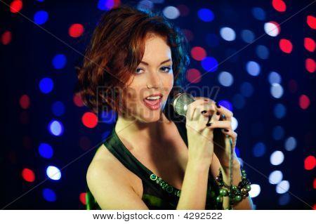 Beautiful Female Singer