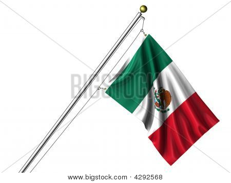 Isolated Mexican Flag