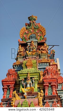 Traditional Hindu temple South India Kerala