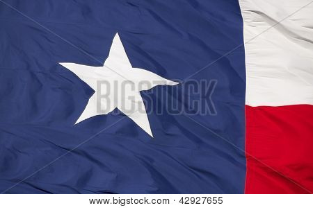 Close up of the State Flag of Texas
