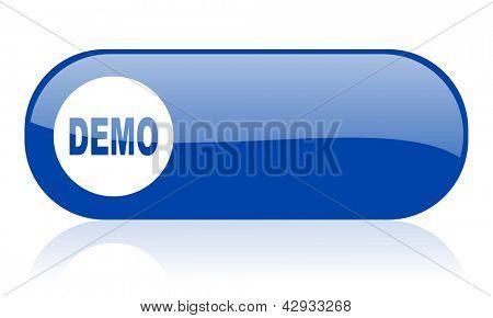 demo blue web glossy icon