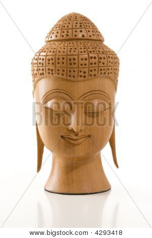 Buddha Head On White