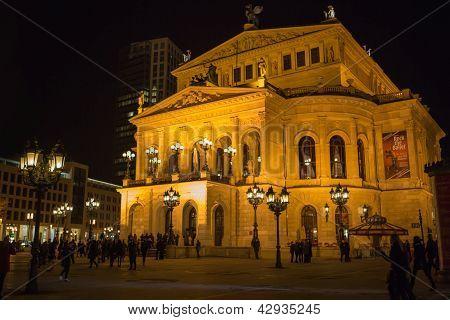 Frankfurt - Mar 2: Alte Oper At Night On March 2, 2013 In Frankfurt, Germany.
