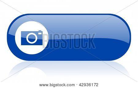 camera blue web glossy icon