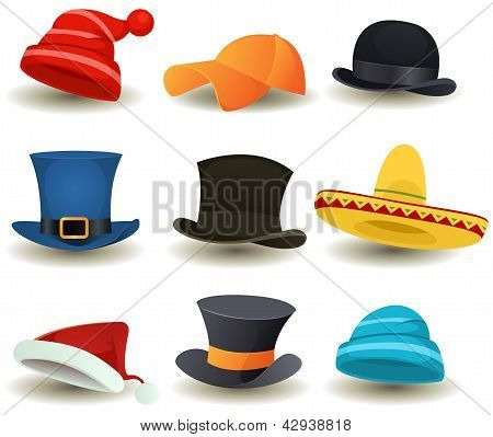 Caps, Top Hats And Other Head Wear Set