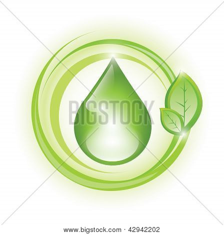 Eco symbol for water/oil