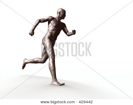 Statue Of Man Running