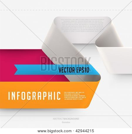 Modern ribbon infographic template for business design
