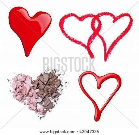 Make Up Accessories Heart Shape Love