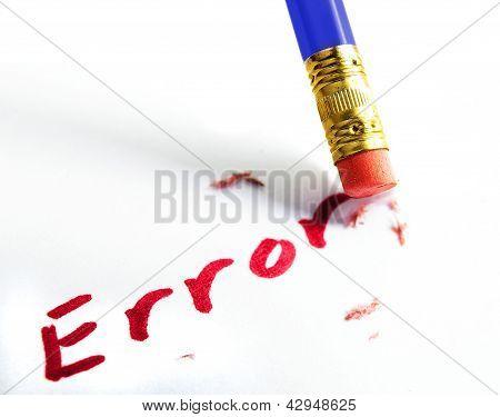 Borrar el error