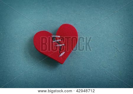 Mended Stitched Heart