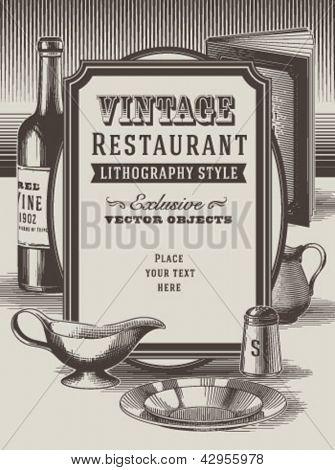 Fondo de restaurante Vintage