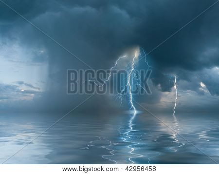 Landscape With The Thunderstorm