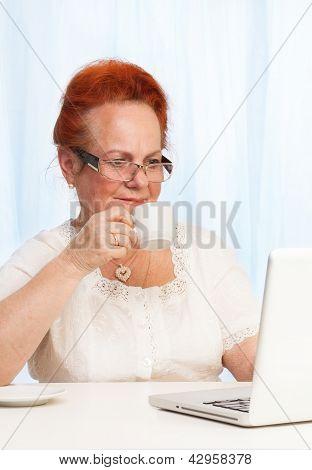 Internet Browsing During Breakfast