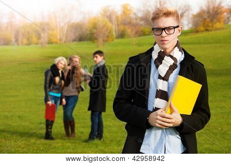 Smart Student In Park