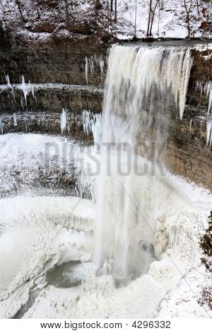Winter Around Tews Falls - Vertical Orientation.