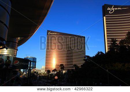 LAS VEGAS - 27 de dezembro: LasVegas Hotéis e casino, em 27 de dezembro de 2012, em Las Vegas. WYNN RESORTS LTD F