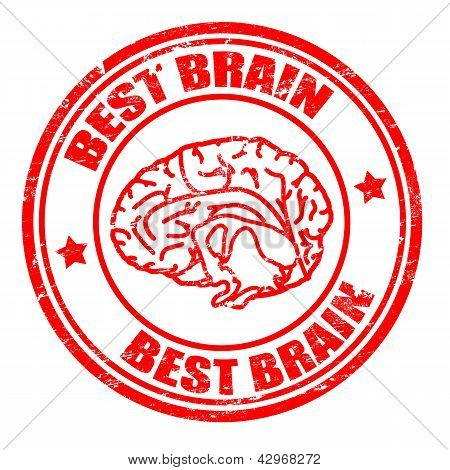 Best Brain Stamp