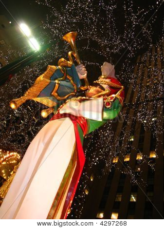 Christmas Statuette At Rockefeller Center, New York