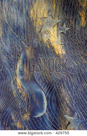 Paste Paper: Blue Stars